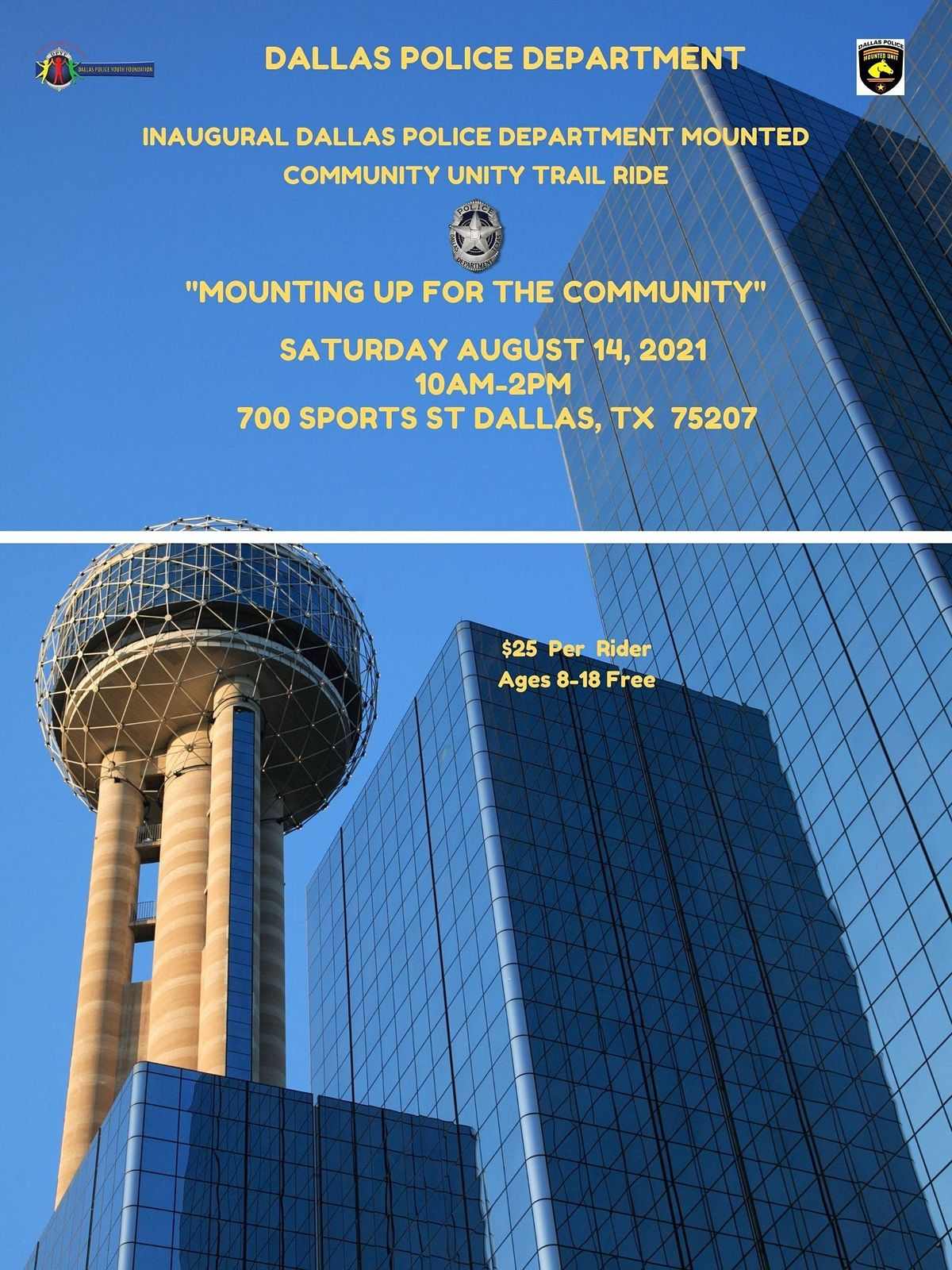 Dallas Police Department  Mounted Community Unity Trail Ride