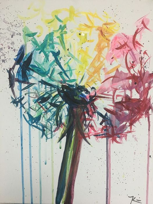 """""""Rainbow Wishes"""" In-Studio Paint Party!!"""