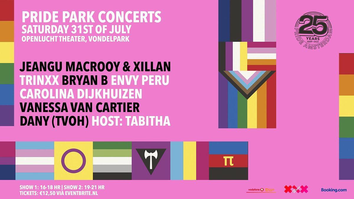 Pride Park Concerten   Sessie 2 : 19:00 - 21:00 (uitverkocht)