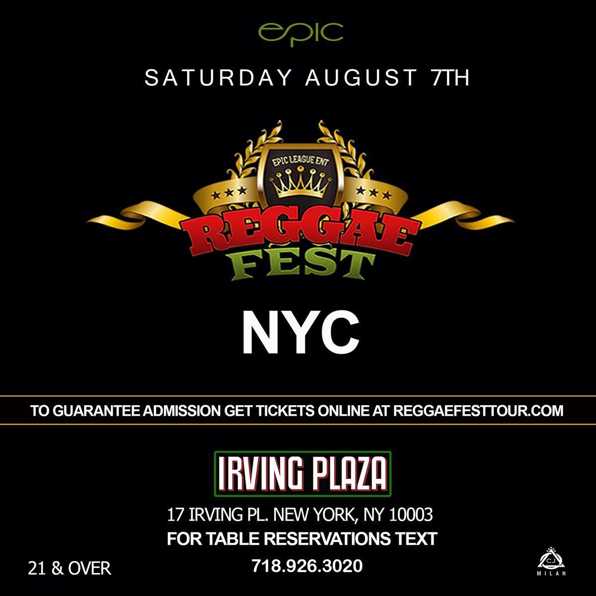 Reggae Fest NYC Dancehall Vs. Soca at Irving Plaza NY