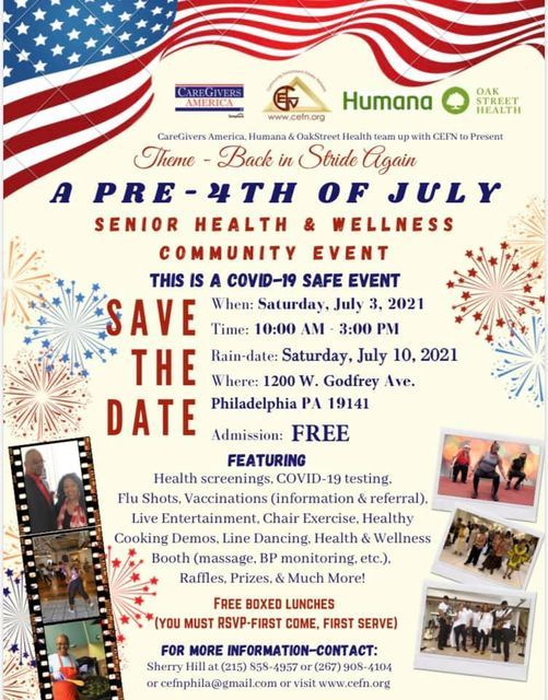 Pre-4th of July Senior Health and Wellness Community Event