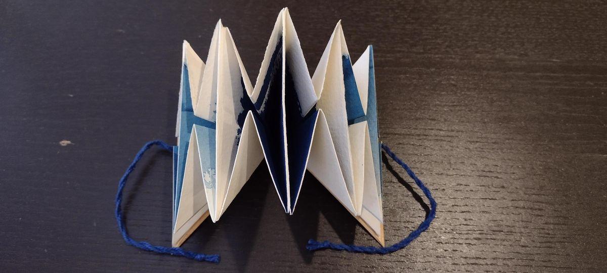 Triangle Fold Binding: #10 in A Season of Book Making
