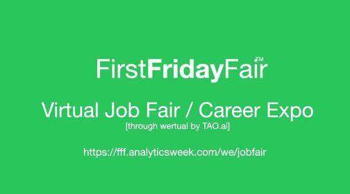 Data FirstFridayFair Virtual Job Fair \/ Career Expo Event