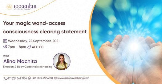 Your magic wand-access consciousness clearing statement with Alina Machita
