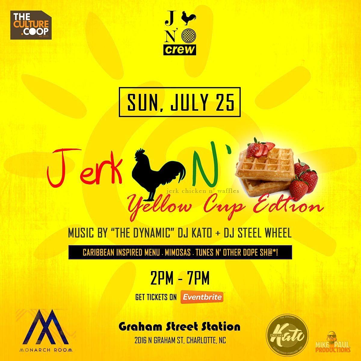Jerk Chicken N' Waffles Brunch: Yellow Cup Edition!