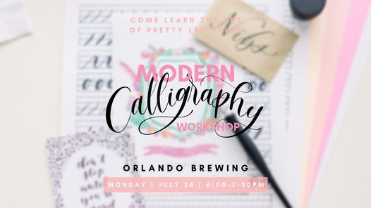 Modern Calligraphy at Orlando Brewing