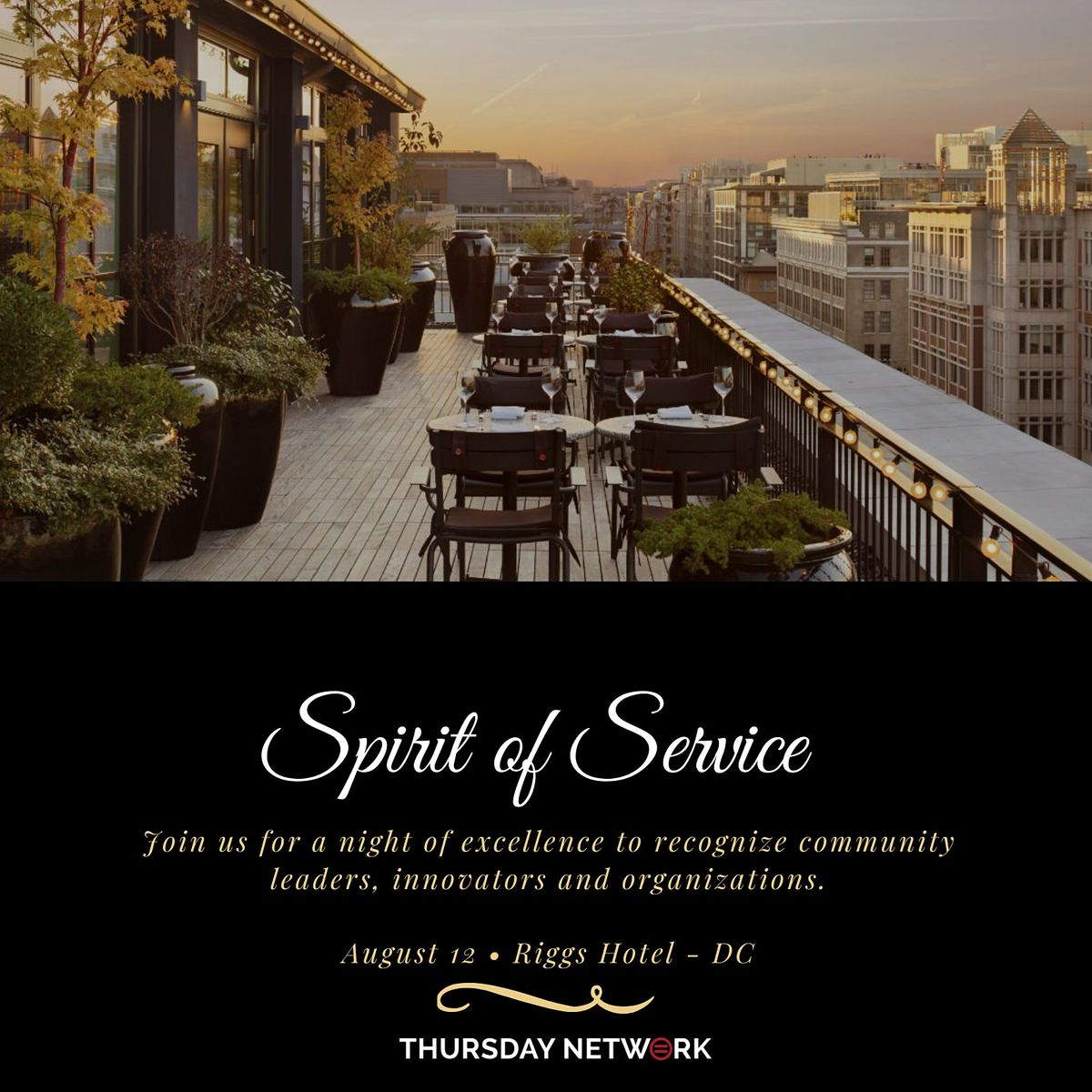 **SOLD OUT** 2021 Thursday Network - Spirit of Service Awards Ceremony
