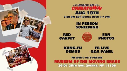 Made In Chinatown: Screening \/ Cast Meet & Greet \/ Kung-fu Demos \/ FB Live Q&A Panel Discussion