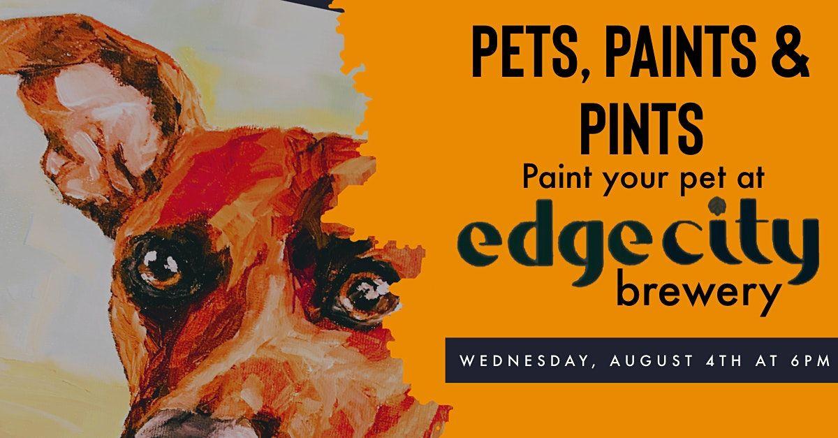 Pets, Paints & Pints at Edge City Brewery: paint a portrait of your pet!