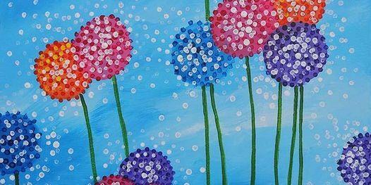 "Sip and Paint - ""Dandelions n Dots""  Lafayette Hotel, Swim Club & Bungalows"