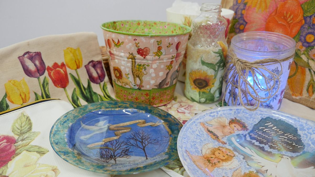 Decoupage Art Course starts Oct 9 (4 Sessions)