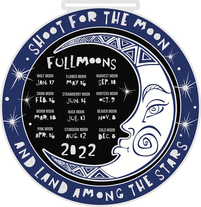 2022 Full Moon Running & Walking Challenge -Participate from Home. Save $3!