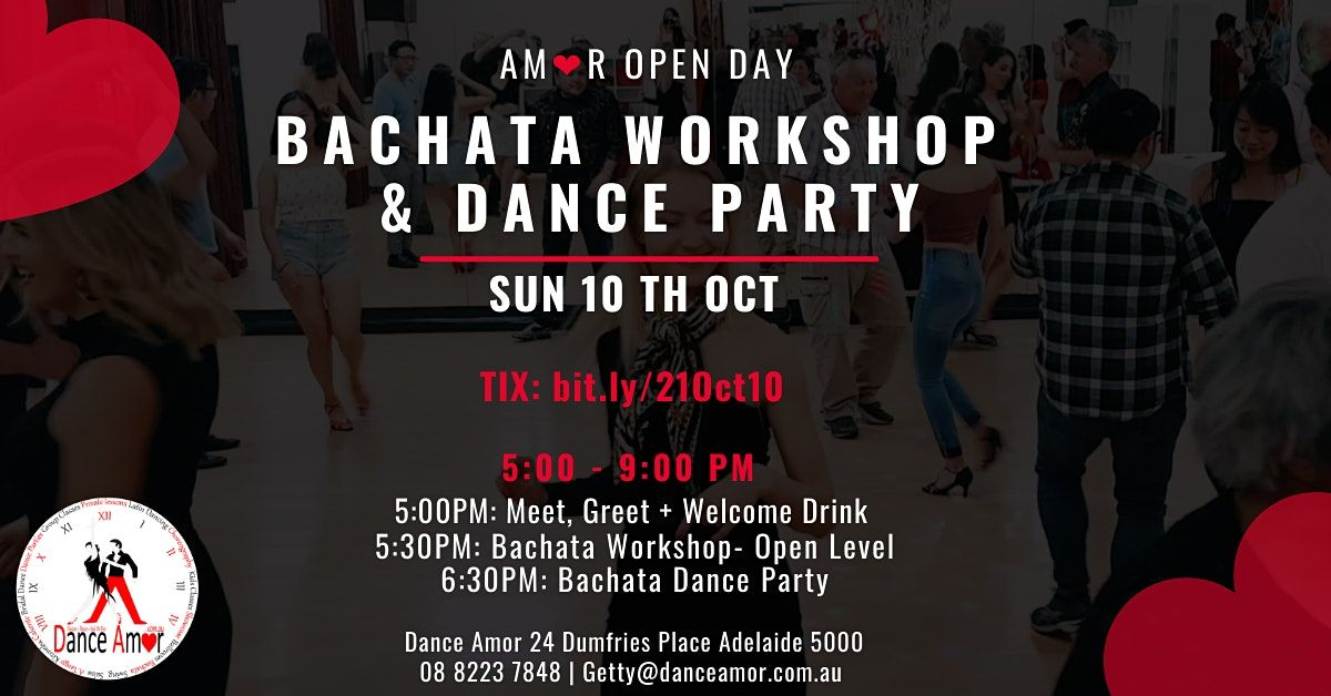 Bachata Social Party & Workshop - Amor Open Day Sun 10 Oct