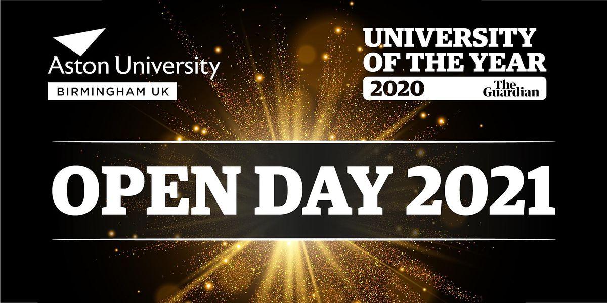 Aston University Open Day 2nd October 2021