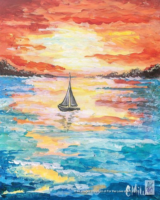 Paint & Sip with For the Love of Art @ AYO Social Wine Bar $30