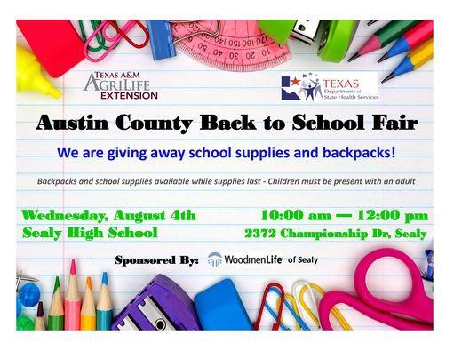 Austin County Back to School Fair