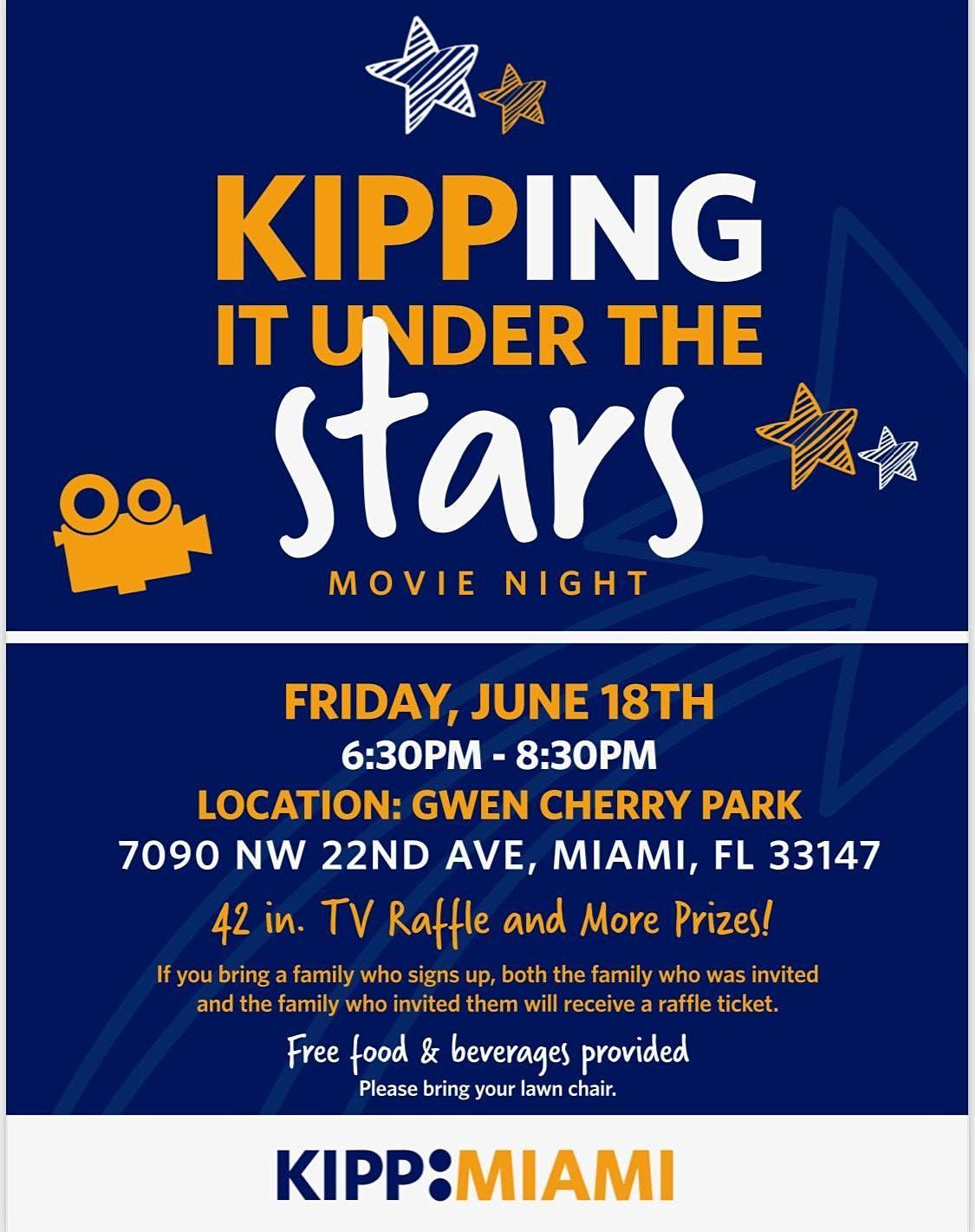 KIPPING  IT UNDER THE STARS