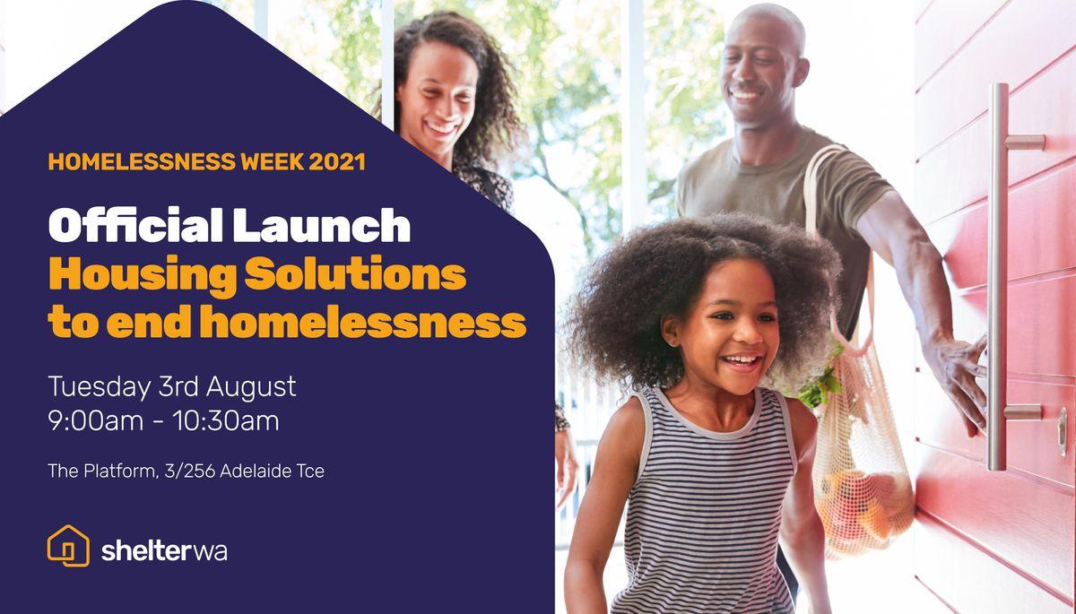 Homelessness Week 2021 - Official Launch