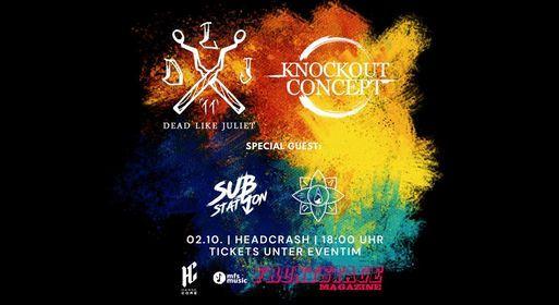 Dead Like Juliet & Knockout Concept + Support - Hamburg
