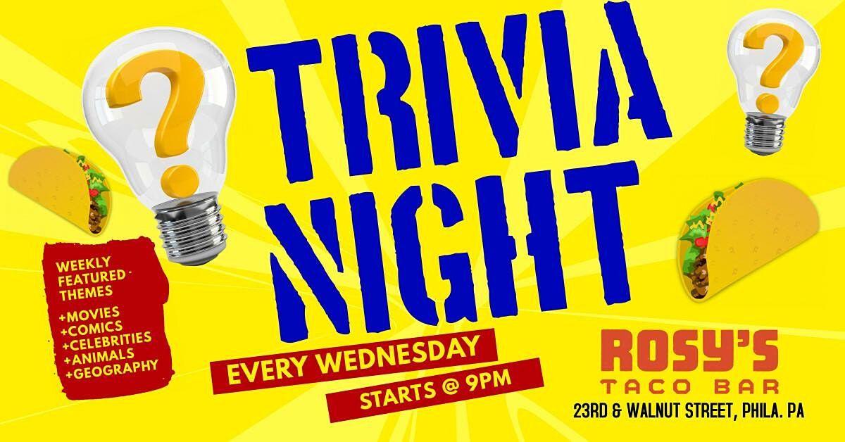 Wednesday Trivia at Rosy's Taco Bar