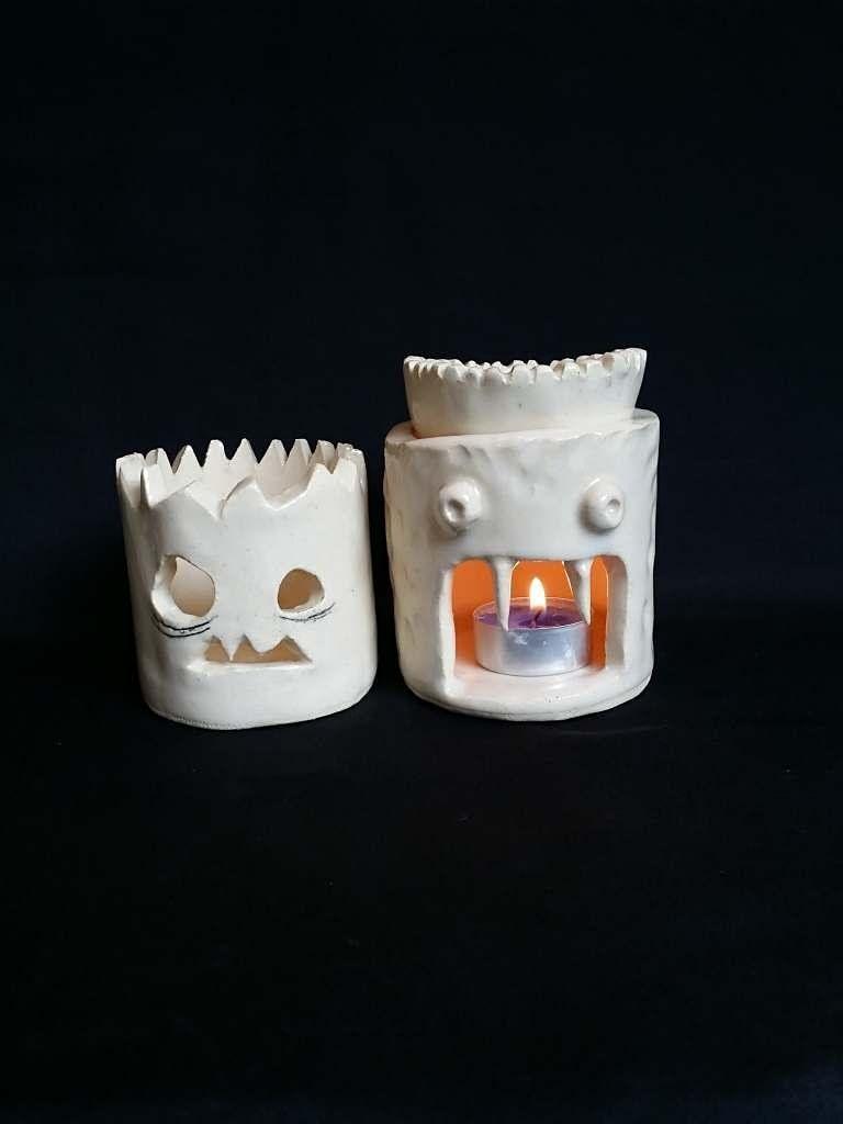 Make a Spooky Lantern\/Oil Burner   Pottery Workshop w\/ Siriporn Falcon-Grey