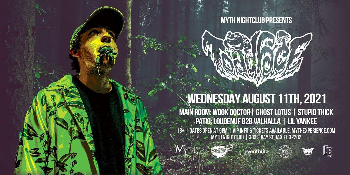 Toadface Live at Myth Nightclub | Wednesday 8.11.21