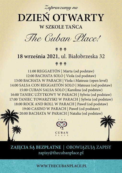Dzie\u0144 Otwarty w The Cuban Place!