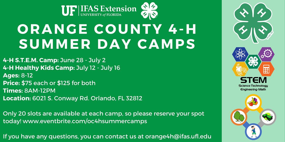 Orange County 4-H 2021 Summer Day Camps