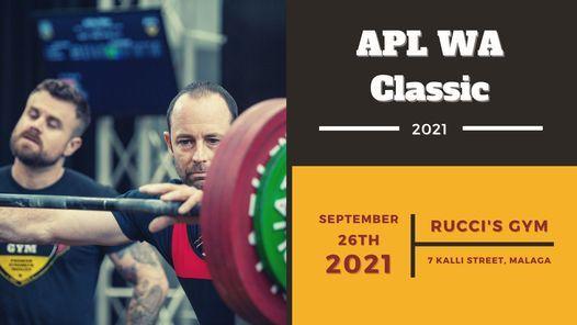 2021 APL WA Classic Drug Tested Raw Championships