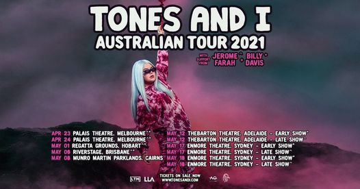 Tones And I - Thebarton Theatre Early Show, Adelaide. SA