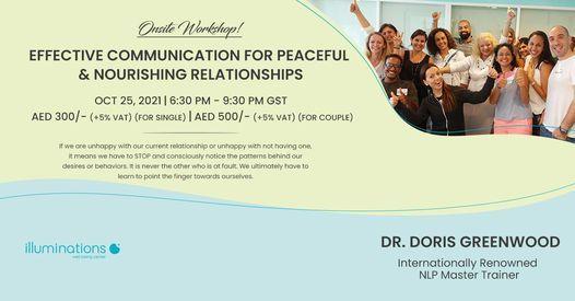 Onsite Workshop: Effective Communication For Peaceful & Nourishing Relationships With Dr. Doris