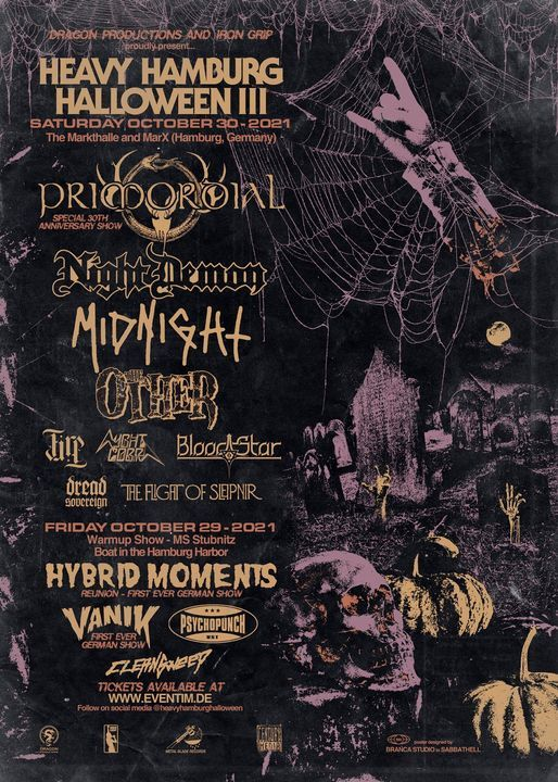 Heavy Hamburg Halloween III w\/ Primordial, Midnight, Night Demon and more
