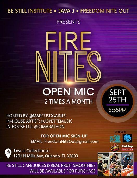 Fire Nites Open Mic