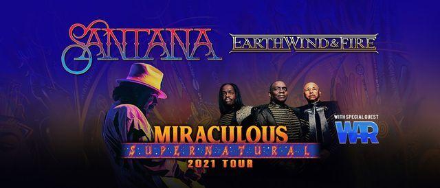 Santana \/ Earth, Wind & Fire: Miraculous Supernatural 2021 Tour