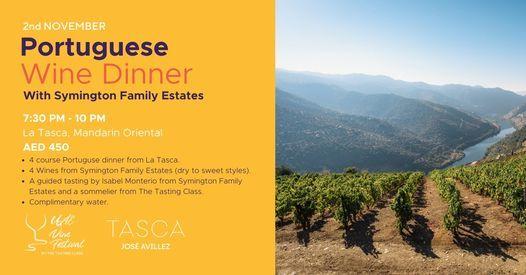 Portuguese Wine Dinner, with Symington Family Estates