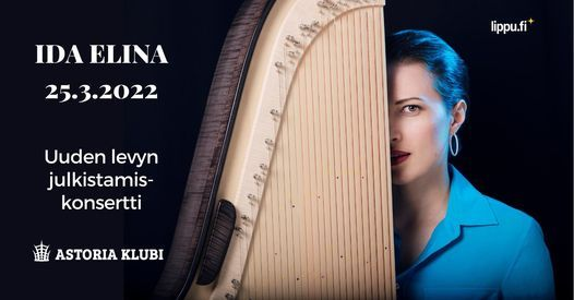 Ida Elina -livekonsertti siirtyy > 25.3.2022!