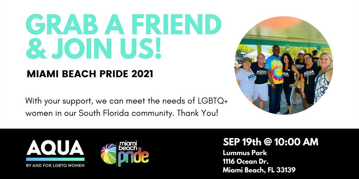Walk with AQUA at Miami Beach Pride Parade