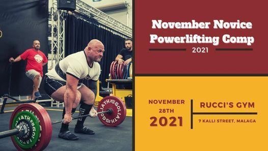 2021 November Novice Powerlifting Competition
