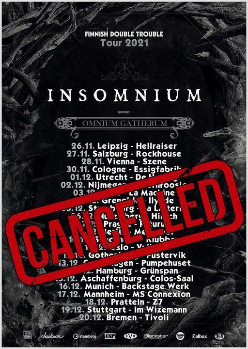 Neuer Termin: Insomnium + Omnium Gatherum l Backstage M\u00fcnchen