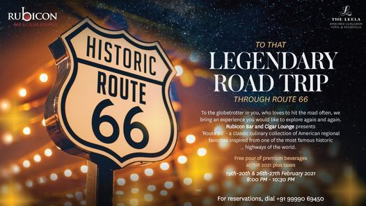 Route 66 inspired banner