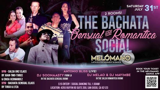 Sensual Bachata & Salsa Romantica!! 7\/31!!