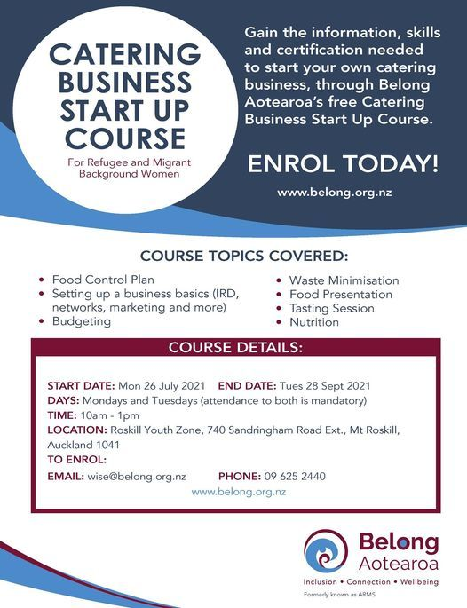 Catering Business Start-Up Course Term 1