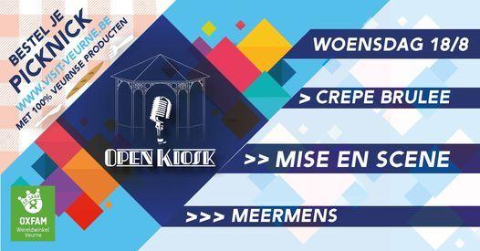 Open Kiosk - Cr\u00eape Br\u00fbl\u00e9e\/Mise En Sc\u00e8ne\/Meermens