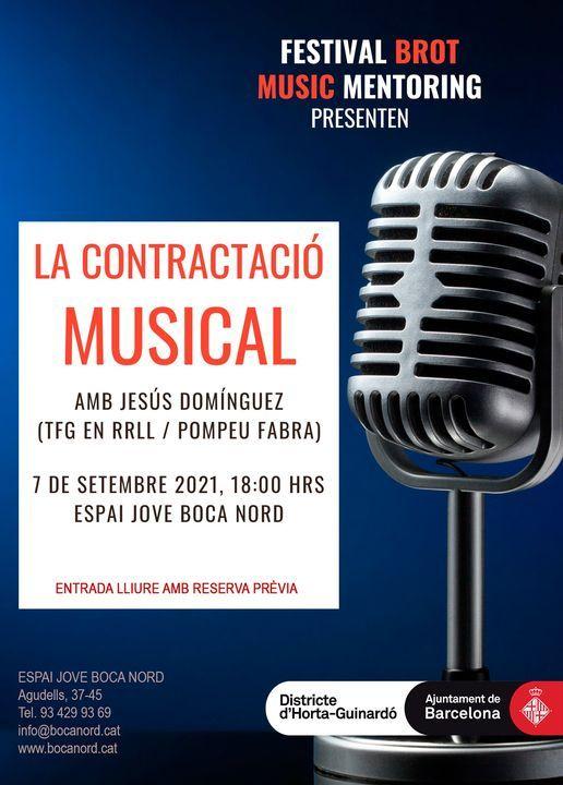Confer\u00e8ncia: Contractaci\u00f3 Musical amb Jes\u00fas Dom\u00ednguez