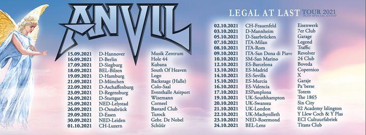 Anvil l Backstage M\u00fcnchen (Nachholshow vom 01.04.20 & 20.12.20 )