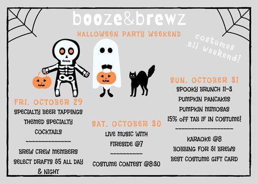 booze&brewz halloween weekend: spooky brunch & karaoke night sunday!!