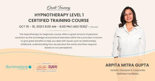 Onsite Training: Hypnotherapy Level 1 Certified Training Course With Arpita Mitra Gupta
