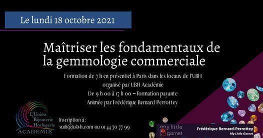 Formation \u00ab Les fondamentaux de la Gemmologie Commerciale \u00bb