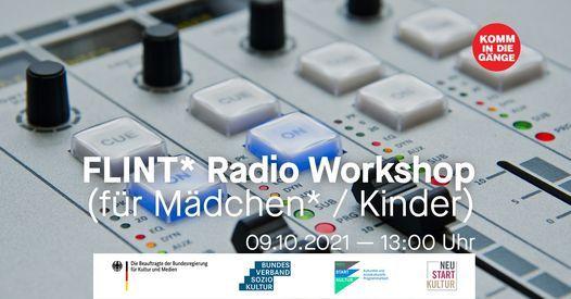 Workshop: FLINT* Radio (f\u00fcr M\u00e4dchen* \/ Kinder)