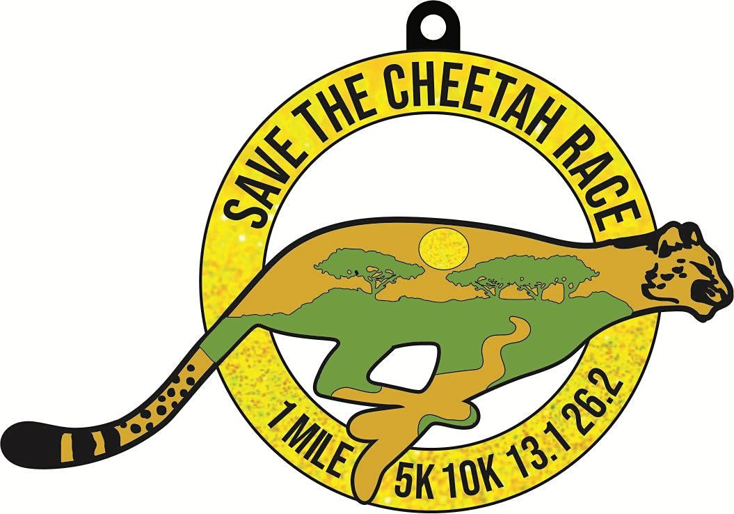 2021 Save the Cheetah 1M 5K 10K 13.1 26.2-Participate from Home. Save $5